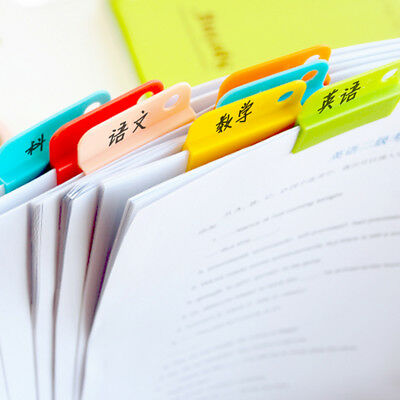 6pcs Colorful Easy Clip Document Paper Clips Folder Memo Bookmark Casual Clips