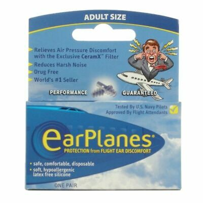 EarPlanes Adults Size | Relieves Air Pressure 1 2 3 6 12 Packs