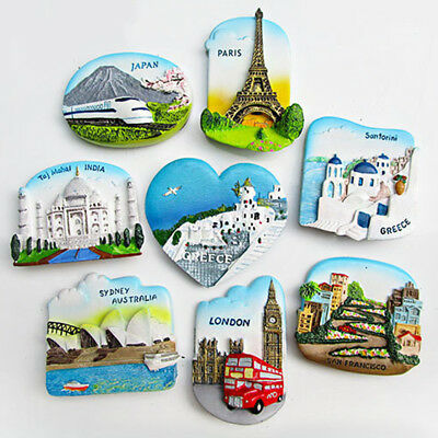 3D Resin Travel Decorative Fridge Magnet Craft Souvenir San Francisco Greece New
