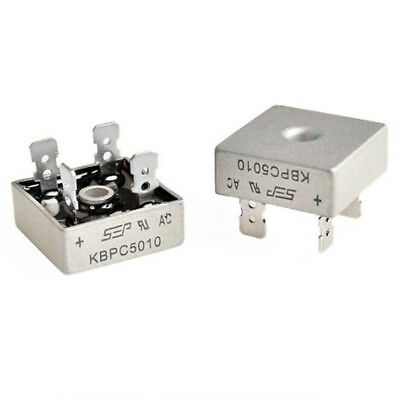 50A 1000V Metal Case Single Phases Diode Bridge Rectifier KBPC5010 US.