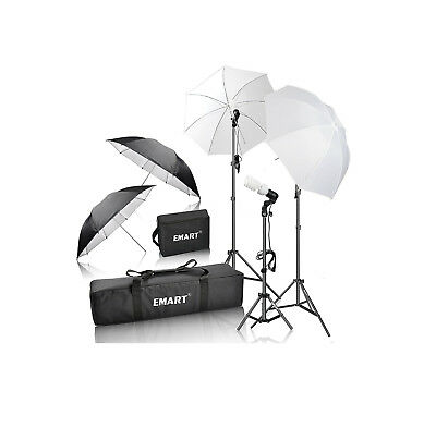 Complete Photo Studio Lighting Kit Portrait Photography Shooting Video Umbrella