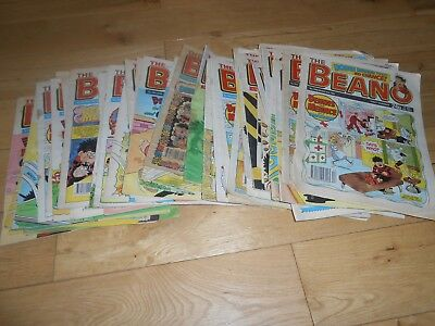 JOB LOT Over 50 BEANO comics from 1990s UK comic collection