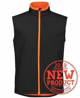Jb's wear Podium Mans Water Resistant Softshell Vest  fabric bonded microfleece