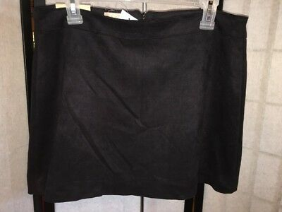 25c3b29d34e Altar d State Women s Size Medium Black Stretch Faux Suede Lined Mini Skirt  NWT