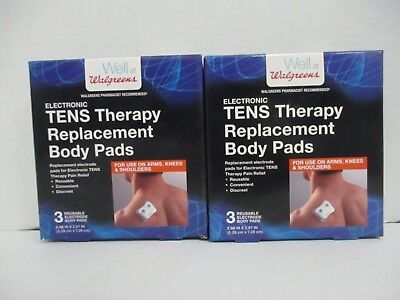 2 Walgreens ELECTRONIC TENS THERAPY REPLACEMENT BODY PADS 3 EACH DE 4949