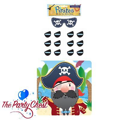 STICK THE EYEPATCH ON THE PIRATE Kids Party Game Childrens Pin Tail Game