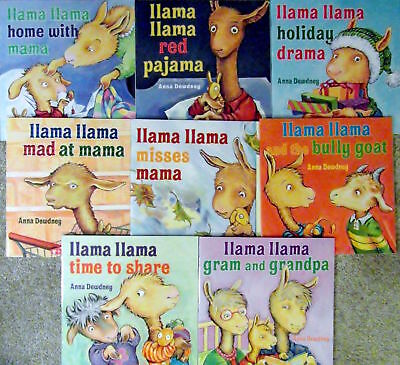 NEW 8-Pack LLAMA LLAMA Paperback Books Anna Dewdney Set,Lot, Complete Collection