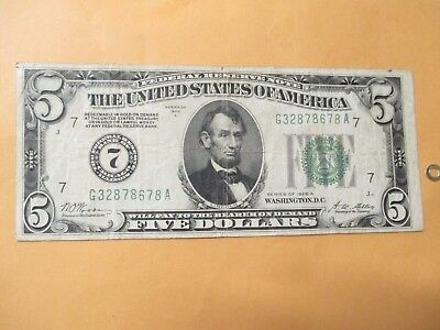 1928-A $5 Federal Reserve Note (Tough Note)