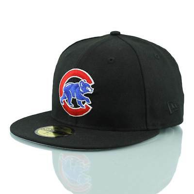 New Era Chicago Cubs Alternate Logo 59FIFTY Fitted MLB Cap Schwarz