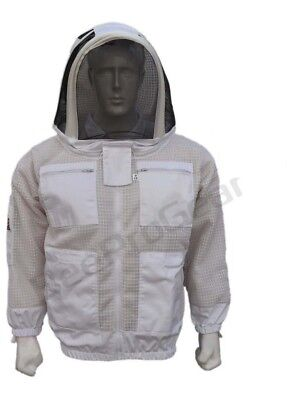 Bee Sting 3 Layer beekeeping hat ventilated protective fency veil hood@2XL01