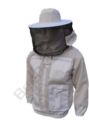 Bee Sting Beekeeper 3 Layer Ultra Ventilated beekeeping jacket Round veil@2XL-01