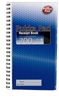 Pukka Pad Receipt Book Duplicate Voucher Pad 200 Sets Carbonless NCR-WH2- WIN054