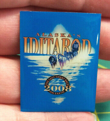 2008 Alaska Iditarod dog sled race, large tie tac Large lapel Pin, 1000 miles