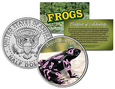HARLEQUIN TOAD Frog Collection JFK Kennedy Half Dollar US Coin
