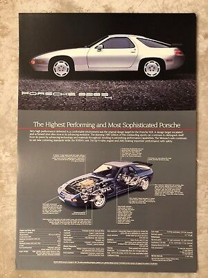 1987 Porsche 928 S4 Coupe Showroom Advertising Sales Poster RARE!! Awesome L@@K