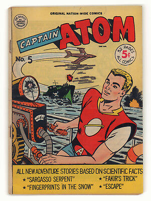 Captain Atom #5 - Adventure Based on Science - Nation-Wide Comics (6.0) 1951