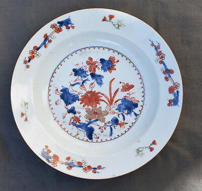 Chine Imari 18ème assiette creuse en porcelaine chinese plate Compagnies indes