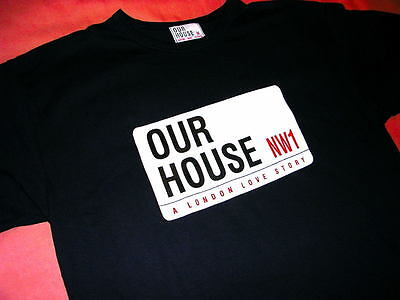 Our House Madness Musical - Medium Size - Official Navy T Shirt - Suggs 2 Tone