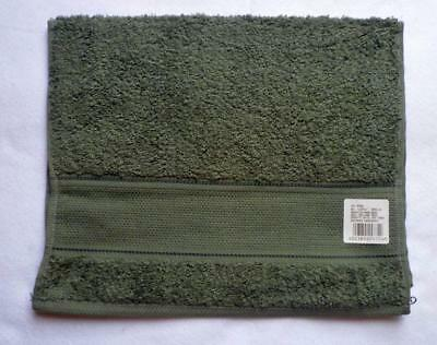 Terry Cloth Towel with aidafeld FOR EMBROIDERING Grey Green 30 x 50 cm