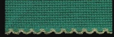 Zweigart stickband Aida 100mm Wide Green with Gold 54 Stitches/10 cm