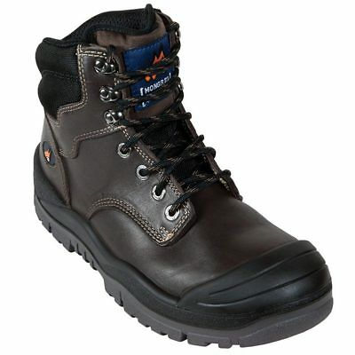 Mongrel 465030 - Mens Claret Lace up Boot - Ankle Safety Boot - With Scuff Cap
