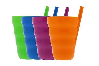 Arrow Sip-A-Cup With Built In Straw For Kids Includes Purple, Blue, Green, Orang