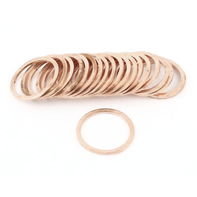 30mm Inner Diameter Flat Copper Washer Seal Ring Spacer Gasket 20Pcs