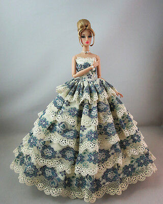 Fashion Royalty Pretty  Multi Lace Gown Princess Dress For Barbie doll