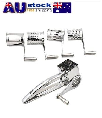 4 PCS Set Stainless Steel Cheese Grater Hand-operated Rotary Cheese Grater