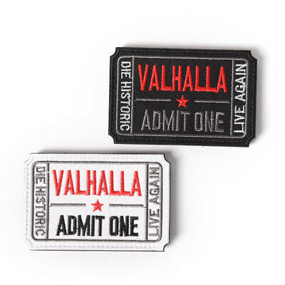ticket to valhalla morale military tactical vikings patch army badge armbandHCUK