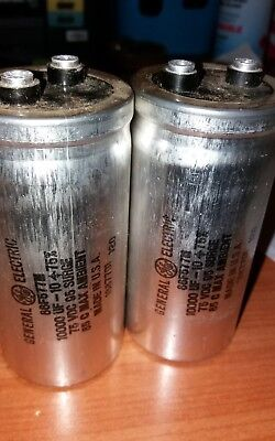 One set of (2)Dynaco St 400 Main Capacitors 10000UF 75V