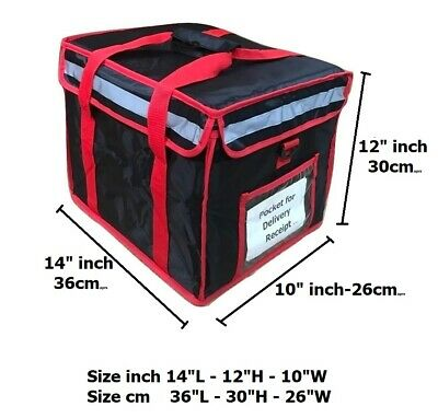 "Heavy Duty Hot Food Delivery Bag Size16""x13""x10"" Delivery Kebab.Indian.Chinese"
