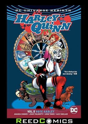 HARLEY QUINN VOLUME 5 VOTE HARLEY GRAPHIC NOVEL Paperback Collects (2016) #28-34