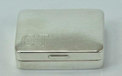 Pillendose Silberdose in aus 925 Sterlingsilber silver box can