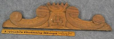 antique carved wood architectural cornice ogre mean king head original 1890