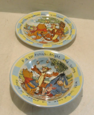 Winnie The Pooh Plate and Bowl Set Staffordshire Tableware England & WINNIE THE Pooh Plate and Bowl Set Staffordshire Tableware England ...