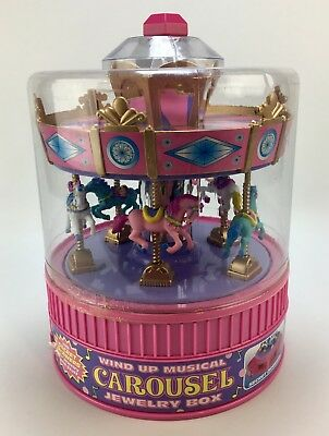 NEW SEALED Carousel Wind Up Musical Jewelry Box by Moose Mountain