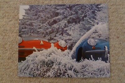 1965 Porsche 356-C Coupe Showroom Advertising Poster RARE!! Awesome L@@K