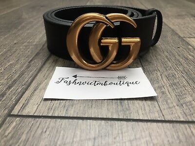 "Hot Deal !!! Womens Genuine Leather Belt  ""GG"" Logo Style Belt Size 85"