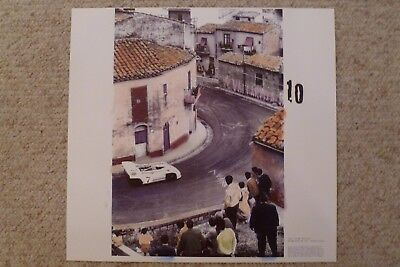 1971 Porsche 908/3 Spyder Targa Florio Showroom Advertising Poster RARE! Awesome