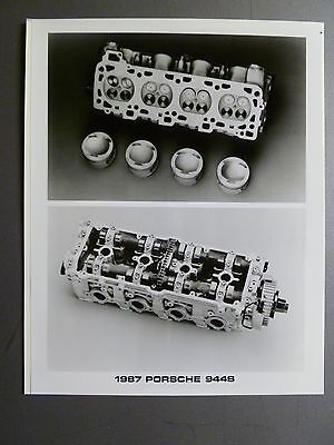 1987 Porsche 944 S Engine B&W Press Photo PCNA Issued RARE!! Awesome L@@K