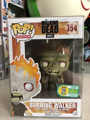 Funko Pop! The Walking Dead Burning Walker 2016 SDCC Official Limited Edition
