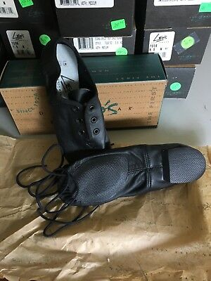 Leos Split Sole Econo Jazz Oxford 7038, Black, NIB