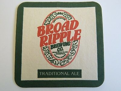 Beer Coaster ~ BROAD RIPPLE Brewing co Traditional Ale ~ Indianapolis, INDIANA