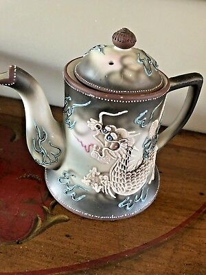 Antique Teapot Nippon Moriage Dragonware Teapot Japan