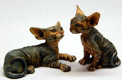 Harmony Kingdom Artist Neil Eyre Designs 2 Sphynx Cat Figurines LE 50 Ur Choice