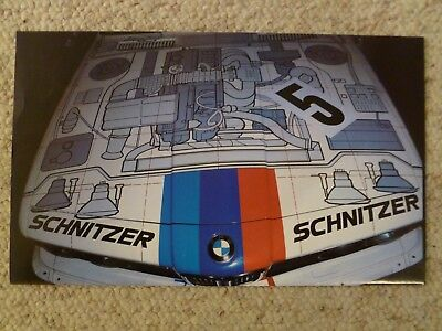 1986 BMW Race Car Front Hood Print, Picture, Poster RARE!! Awesome L@@K