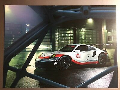 2018 Porsche 911 RSR Coupe Showroom Advertising Sales Poster RARE!! Awesome L@@K