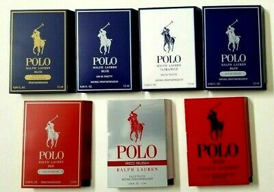 POLO Ralph Lauren Sample Vials Red/Red Extreme/Blue/Ultra/ 0.04oz PICK YOUR LOT