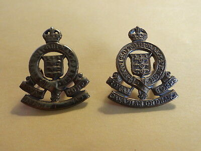 Royal Canadian Ordnance Corps Collar Badges, WWII, WW2